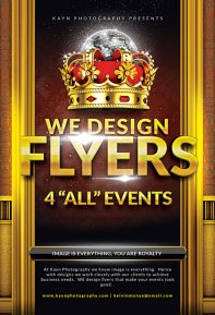 We have the Mechanism to design a flyer suitable for any event